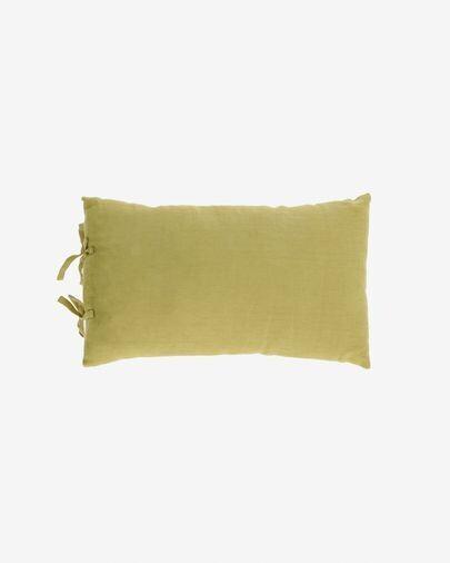Funda cojín Tazu 100% lino verde 30 x 50 cm