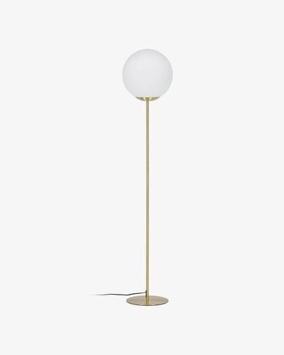 Lámpara de pie Mahala de acero y cristal glaseado