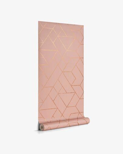 Papel pintado Gea rosa y dorado 10 x 0,53 m FSC MIX Credit