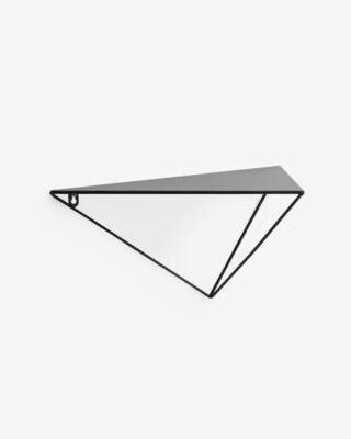 Estante Teg prisma acero con acabado negro 40 x 20 cm