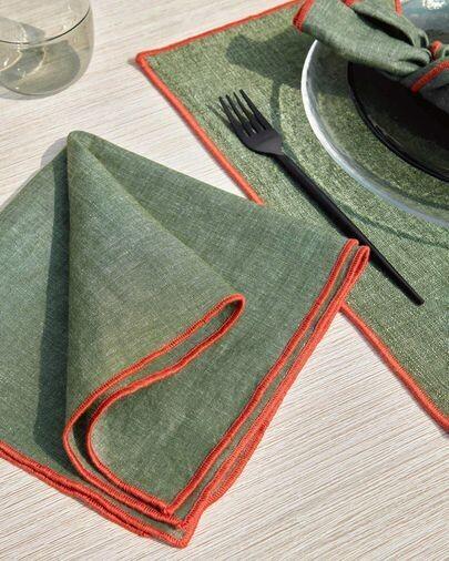 Set Daneli de 2 servilletas verde