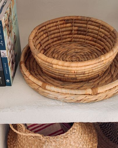 Cesta para servir Colomba fibras naturales