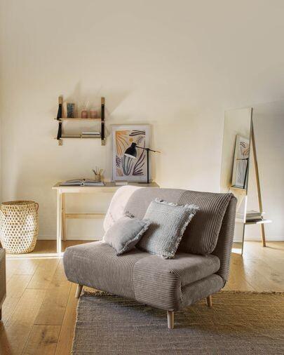 Sofá cama Keren 106 cm pana gris