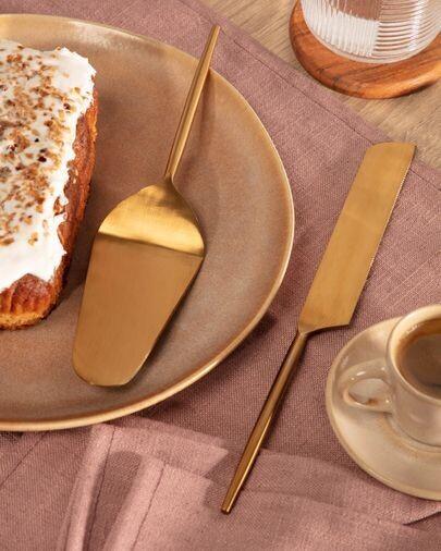 Set Lite de 2 cubiertos para pastel dorado