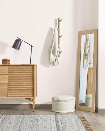 Colgador de pared Natane 5 ganchos madera abedul