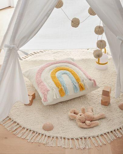 Funda cojín Thaide algodón arcoíris multicolor 45 x 45 cm