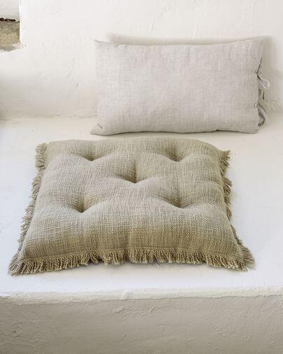 Cojín para silla Brunela 100% algodón verde 45 x 45 cm