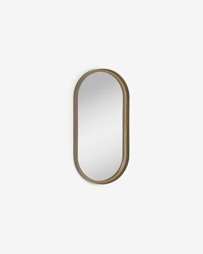 Espejo de pared Tiare metal dorado 31 x 61,5 cm