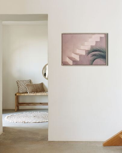 Cuadro Lucie escalera cemento marrón 50 x 70 cm