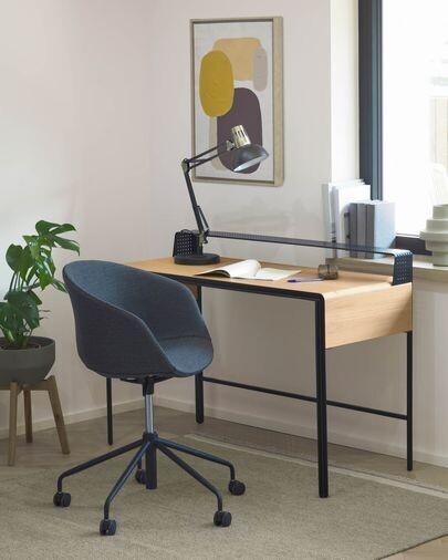 Silla de escritorio Yvette gris oscuro