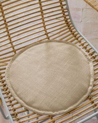 Cojín para silla redondo Prisca mostaza Ø 35 cm