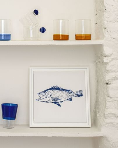 Cuadro Lavinia pez azul 30 x 30 cm