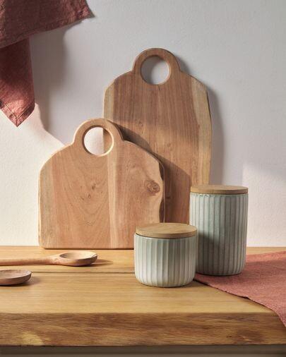 Tabla de servir cuadrada Syriana de madera maciza de acacia