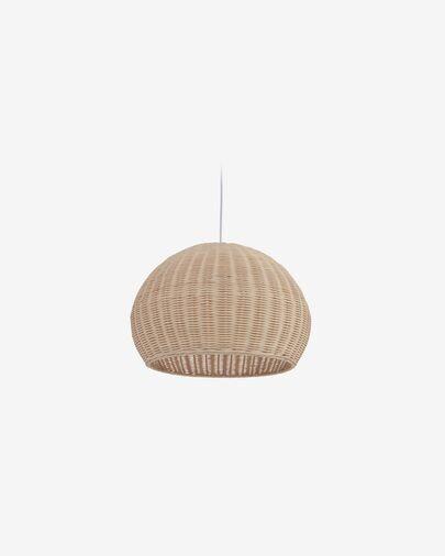Pantalla para lámpara Deyarina de ratán con acabado natural Ø 45 cm