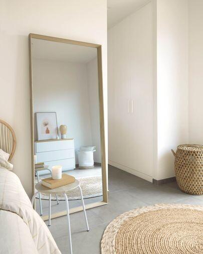Espejo Nerina 80 x 180 cm con acabado natural