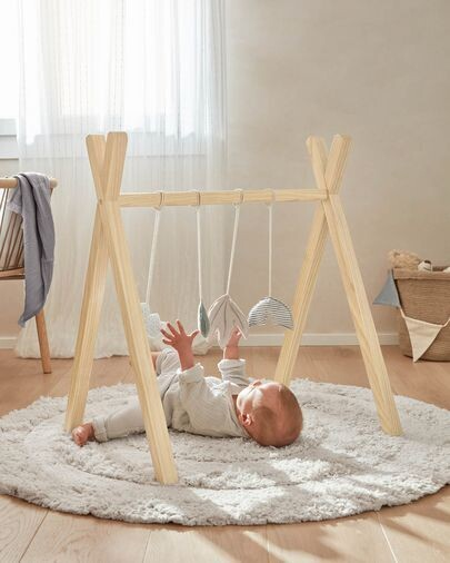 Gimnasio infantil tipi Maralis madera maciza de fresno