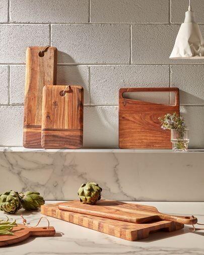 Tabla de servir rectangular Ronli madera maciza acacia