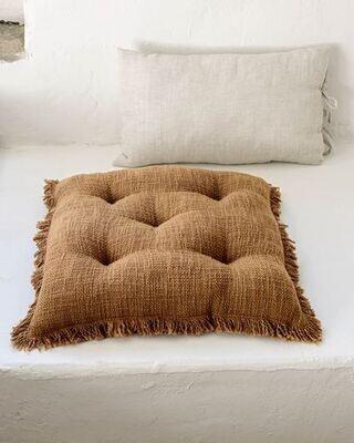 Cojín para silla Brunela 100% algodón marrón 45 x 45 cm