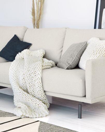 Funda cojín Adonia 100% lana natural 45 x 45 cm