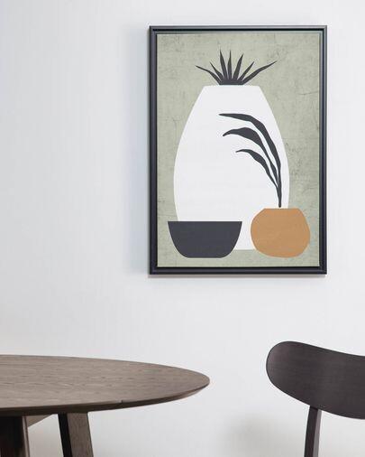 Cuadro Bianey 50 x 70 cm gris