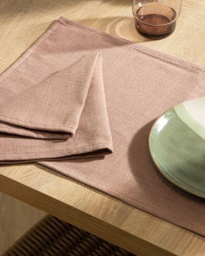 Set Samay de 4 servilletas rosa