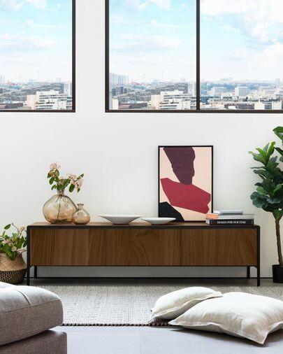 Mueble TV Nadyria chapa de nogal 180 x 50 cm