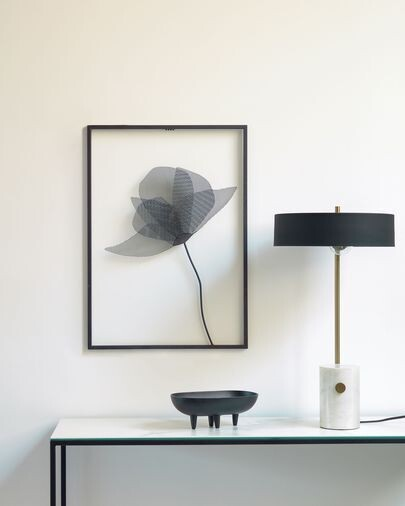 Lámpara de mesa Phant de metal y mármol