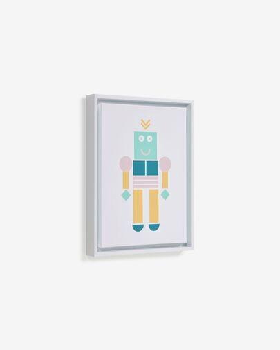 Cuadro Julisa robot multicolor 30 x 40 cm