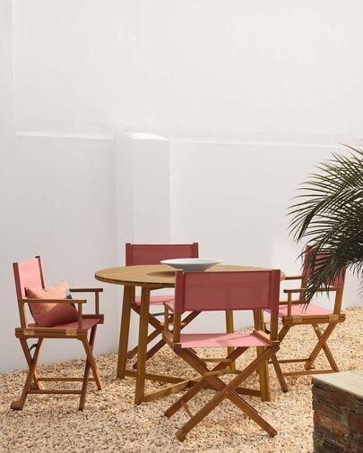 Mesa redonda de exterior Dafne madera maciza acacia Ø 120 cm FSC 100%