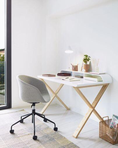 Silla de escritorio Yvette gris claro