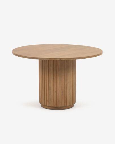 Mesa redonda Licia de madera maciza de mango con acabado natural Ø 120 cm