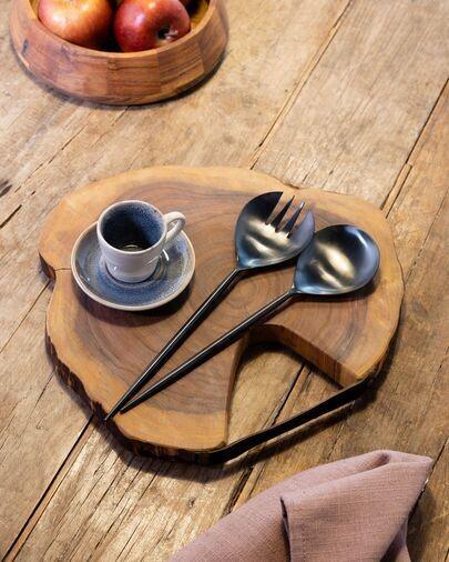 Tabla de servir redonda Ledy madera maciza acacia
