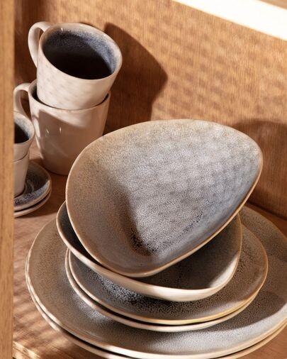 Bol irregular Sachi de cerámica azul claro