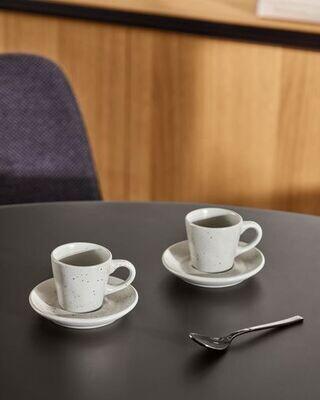 Taza de café con plato Aratani gris claro
