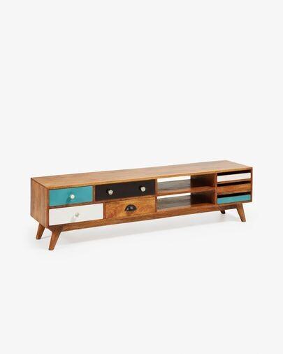 Mueble TV Conrad 160 x 41 cm de madera maciza de mango