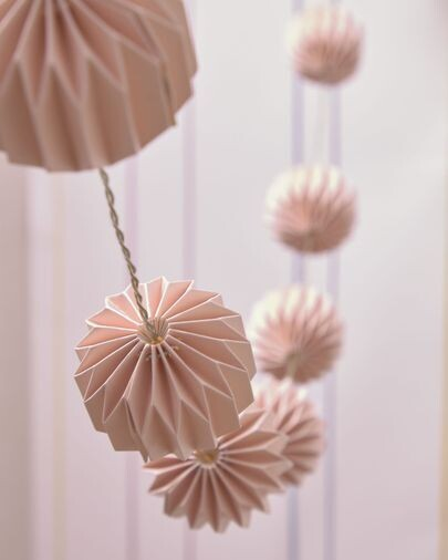 Guirnalda luminosa LED Yulia rosa 10 cm