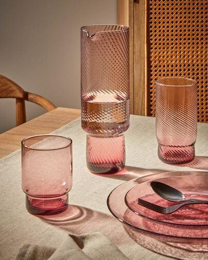 Jarra Yida de cristal rosa