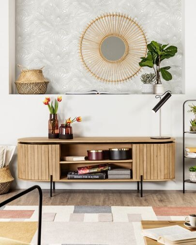 Mueble TV Licia 160 x 55 cm de madera maciza de mango