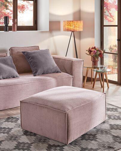 Reposapiés Blok 90 x 70 cm pana rosa