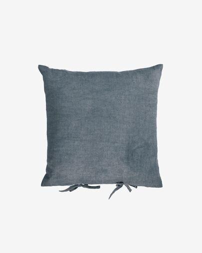 Funda cojín Tazu 100% lino gris oscuro 45 x 45 cm