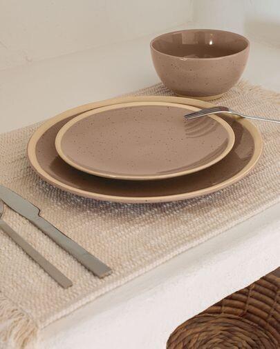 Plato de postre Tilia cerámica color marrón claro