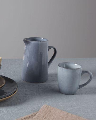 Taza Airena de cerámica azul