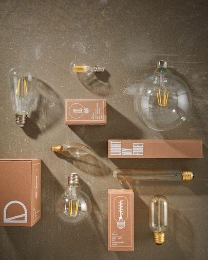 Bombilla LED Bulb E27 de 4 W y 80 mm luz cálida