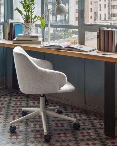 Silla de escritorio Einara gris claro