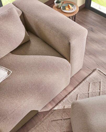 Sofá Blok 3 plazas rosa 240 cm