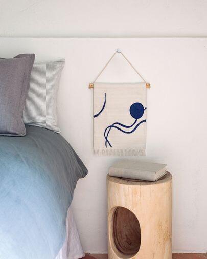 Tapiz mural Atal figuras azul 28 x 34 cm