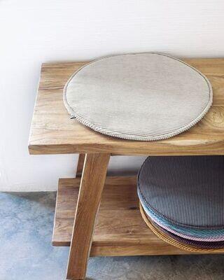 Cojín para silla redondo Sora pana topo Ø 35 cm