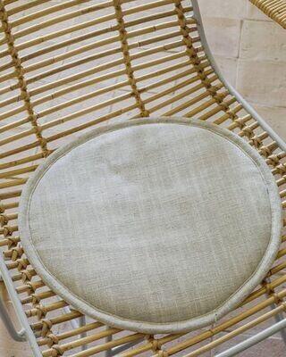 Cojín para silla redondo Prisca terracota Ø 35 cm