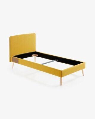 Funda cama Dyla mostaza 90 x 190 cm