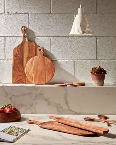 Tabla de servir redonda Salma madera maciza acacia